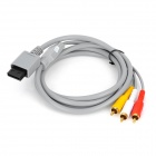 3-RCA Audio Video AV Kabel für Nintendo Wii - Schwarz (160cm)