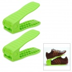 Estante ajustable zapatos Simple - Verde (2 PCS)