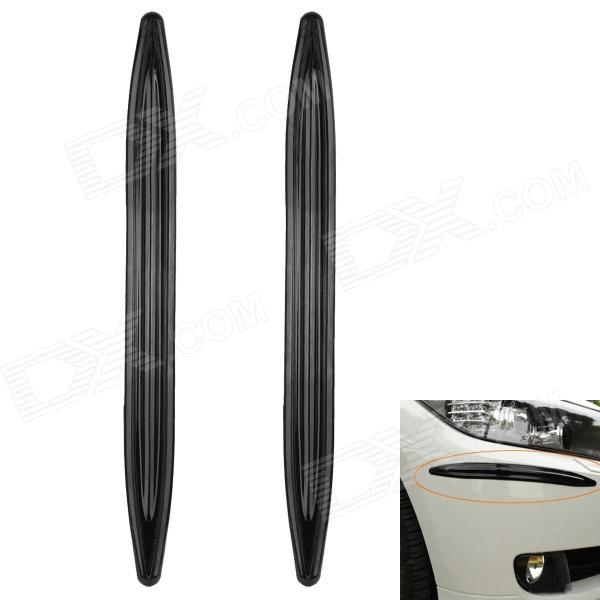 Decoration Protective Guard Rubber Bar for Car Front and Rear Bumper - Black (2 PCS) protective pvc car bumper guard protector sticker white 2 pcs