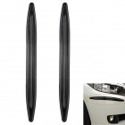 Decoration Protective Guard Rubber Bar for Car Front and Rear Bumper - Black (2 PCS)