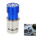 Car Cigarette Lighter Head with Decorative Crystal- Blue + Silver (DC 12V)
