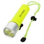 New-208 Cree XR-E Q3 190lm 1-Mode White Light Diving Flashlight - Yellow (4 x AA)
