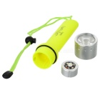 New-208 100lm 1-Mode White Light Diving Flashlight - Yellow (4 x AA)