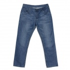Guaimozai MF054 Causal Man's Mid-High Waist Straight Leg Jeans - Blue (Size-33)