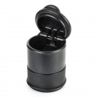 Portable Car Vehicle Plastic Smokeless Cylinder Ashtray Holder - Black