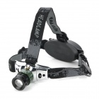 180lm 3-Mode White Light Zooming Headlamp - Black + Green (1 x 18650 / 3 x AAA)