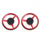 DIY Decorative Motorcycle Tire Center Shaft Cap Cover - Red + Black (2 PCS)