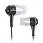 12C Stylish In-Ear Earphone for Iphone 4 / 4S / 3GS + More - Black + Silver (3.5mm Plug / 110cm)