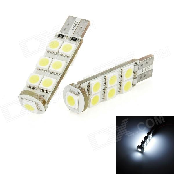 T10 1.95W 143lm 13-SMD 5050 LED White Light Car Turning Signal Light (DC 12V / 2 PCS) 2 x t10 led w5w canbus car side parking light bulbs with projector lens for mercedes benz c250 c300 e350 e550 ml550 r320 r350