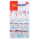 240 Multicolored Transparent with Speckles TPU Bands (12 Packs of 20)
