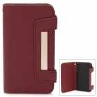 Protective Genuine Leather Case for Iphone 4 / 4S - Red