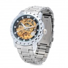 SINOBI Fashion Stainless Steel Self-Winding Mechanical Digital Waterproof Wrist Watch - Silver