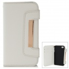 Protective Genuine Leather Case for Iphone 4 / 4S - White