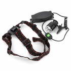 New-888 Cree XM-L T6 800lm 5-Mode White Light Zooming Headlamp - Black (1 x 18650)