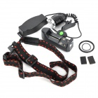 New-888 800lm 5-Mode White Light Zooming Headlamp - Black (1 x 18650)
