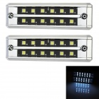 2.4W 144lm 12-SMD 5050 LED White Light Car Daytime Running Lamps (12V / 3 PCS)