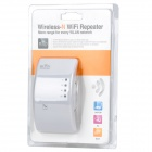 Portable 2.4GHz 802.11b/g/n 300Mbps Wireless Wi-Fi Router - White (AC 110-230V)