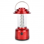 Multifunction 8-LED White Light Bivouac Lantern Lamp - Red + Transparent (3 x AA)