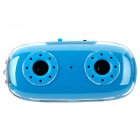 K-18 Mini Rechargeable Media Player Speaker w/ TF / 3-LED Flashlight - Blue