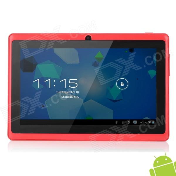 "Ubox A7 7 ""kapazitiven Bildschirm Android 4.0 Tablet PC w / TF / Wi-Fi / Kamera / G-Sensor - Dark Red"
