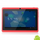 "UBOX A7 7"" Capacitive Screen Android 4.0 Tablet PC w/ TF / Wi-Fi / Camera / G-Sensor - Dark Red"
