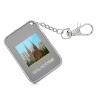 "Rechargeable 1.5"" Digital Photo Frame Keychain - Silver (16MB)"