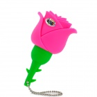 HD HD-0909 Rose Style USB 2.0 Flash Drive - Pink + Green (4GB)