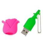 HD HD-0909 Rose Стиль USB 2.0 Flash Drive - Pink + Green (4 Гб)