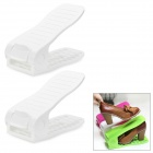 Adjustable Simple Shoes Rack - White (2 PCS)