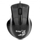 LZ-X3 USB Wired 1000DPI Optical Gaming Mouse - Black (120cm-Cable)