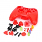 Replacement Full Set Housing Casing for Xbox 360 Wireless Controller - Red