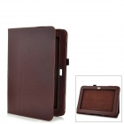 Protective PU Leather Case for Samsung Galaxy Note 10.1 GT-N8000 - Brown