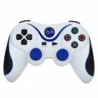 USB Dual-Shock Wired Controller for Sony PlayStation 3 PS3 / PS3 Slim - White + Blue