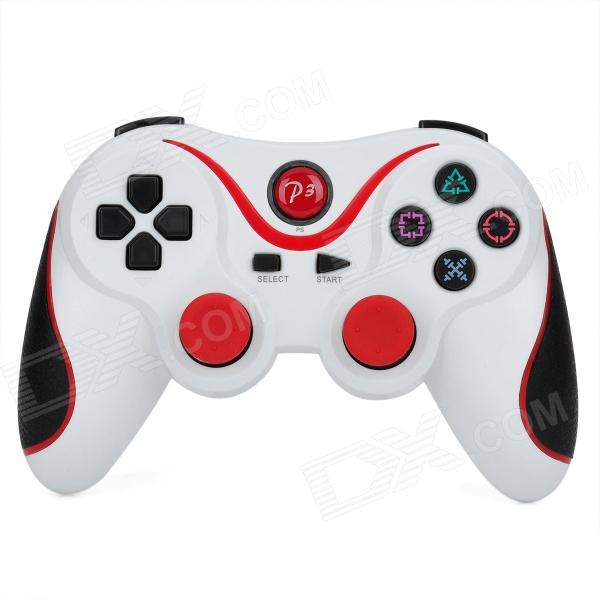 USB Dual-Shock Wired Controller for Sony PlayStation 3 PS3 / PS3 Slim - White + Red