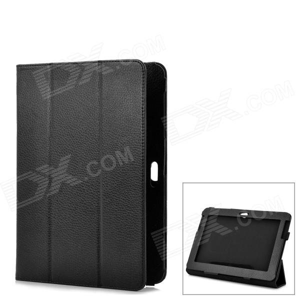 Protective PU Leather Case for Samsung Galaxy Note 10.1 N8000 - Black планшет samsung galaxy note 10 1 16gb gt n8000 black