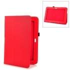 Protective PU Leather Case for Samsung Galaxy Note 10.1 GT-N8000 - Red