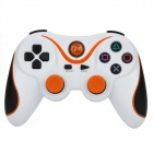 USB Dual-Shock Wireless Controller für die Sony PlayStation 3 PS3 / PS3 Slim - White + Orange