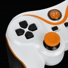 USB Dual-Shock Wired Controller for Sony PlayStation 3 PS3 / PS3 Slim - White + Orange