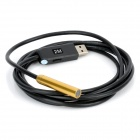 Water Resistant USB 2.0 CMOS 4-LED Snake Camera Endoscope - Golden + Black (2m)