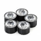 120 Degree Angle LED Optical Lens - Transparent + Black (5 PCS)