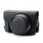 Protective PU Leather Camera Case Bag for Panasonic GX1 - Black
