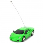 1:24 2-CH Mini Aluminum Alloy 49MHz Remote Controlled R/C Racing Car - Green