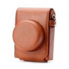 Protective PU Leather Camera Case Bag for Panasonic Lumix GF3 / GF5 - Light Brown