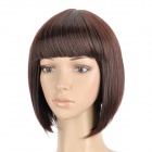 ZX-9974 2/33 Fashion Lady's Short Natural Straight Hair Wig - Deep Brown