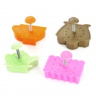 Tea Time 3D Pie Crust Cookie Cutter Set - Brown + Orange + More (4 PCS)