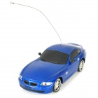 1:24 2-CH Mini Aluminum Alloy 49MHz Remote Controlled R/C Racing Car - Blue