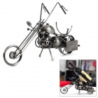 MUT Classic Motorcycle Stil Wine Rack - Black + Silver