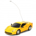 1:24 2-CH Mini Aluminum Alloy 49MHz Remote Controlled R/C Racing Car - Yellow
