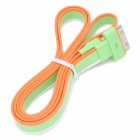 USB Stecker auf Apple 30-Pin Male Data / Laden Regenbogen Flachkabel - Green + Orange + Weiß (90cm)