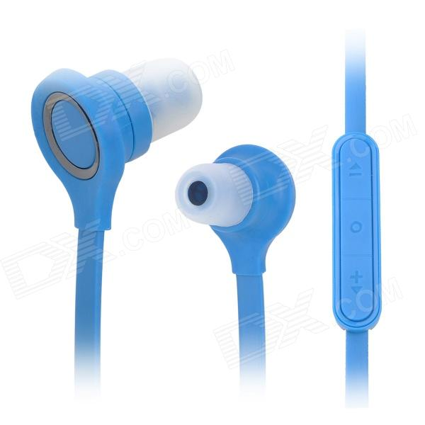 Wallytech In-Ear Earphone w/ Mic / Volume Control for Cellphone - Blue (3.5mm Plug / 120cm-Cable) social housing in glasgow volume 2